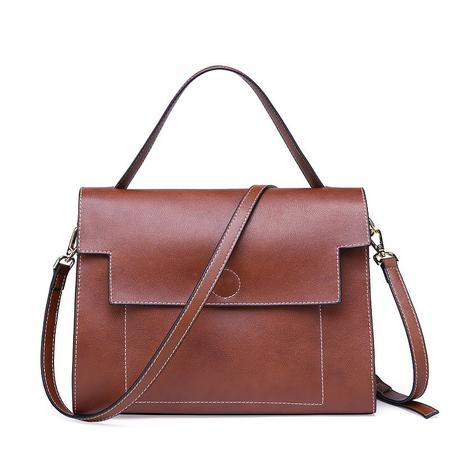 31149226662a12 ... Women Solid Color Genuine Leather Tote Bag. $42.43 - $56.63