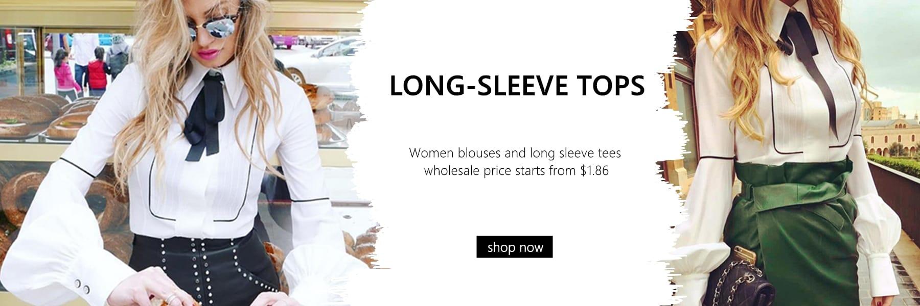 Wholesale Women Blouses&Long-sleeve Tees