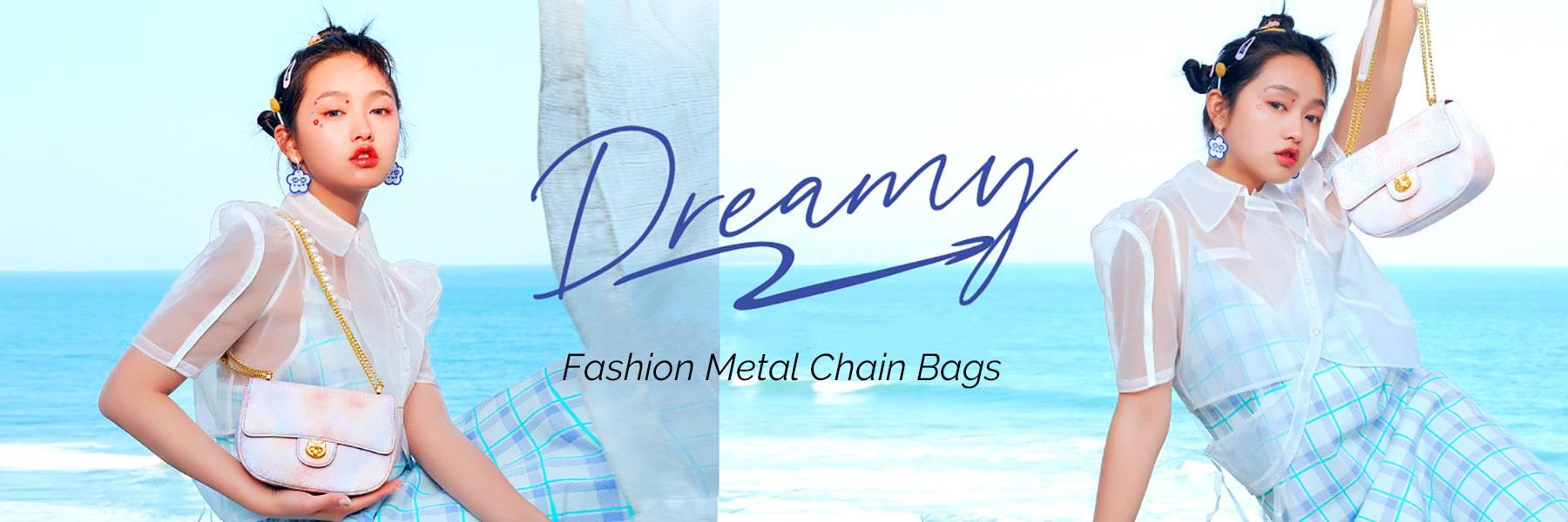 Wholesale Women Metal Chain Bags