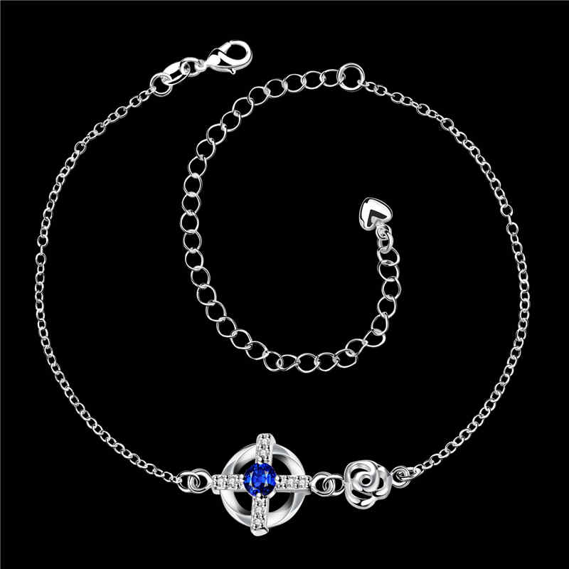 Classic Cross Imitation JEWELRY Decoration Copper Chain Anklets