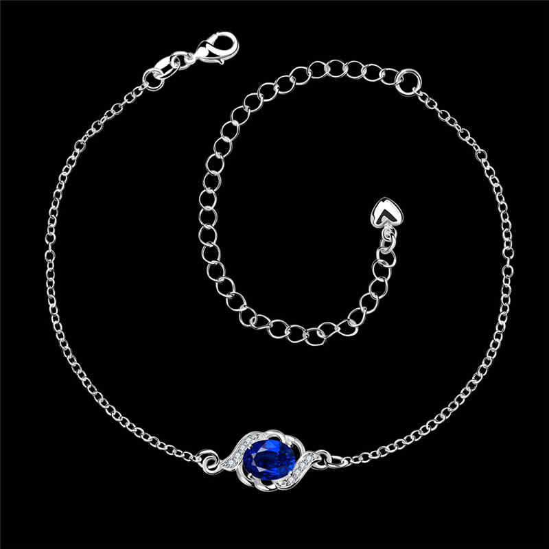 Wholesale Imitation JEWELRY Silver Plated Adjustable Chain Anklets For Women