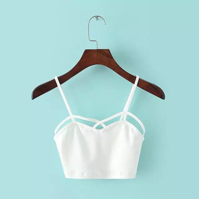 Women Basic Style Solid Color Sexy Cotton TANK TOP