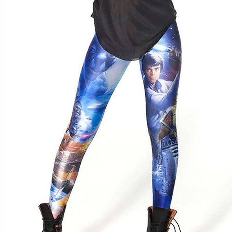 Woman Fashion Digital Printing STAR WARS Slim Leggings