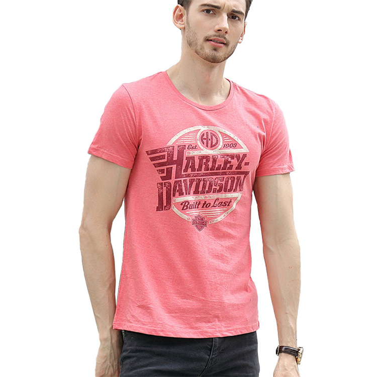 Man NEW Style Fashion Printing Unique Simple Round Neck Cotton T-shirt
