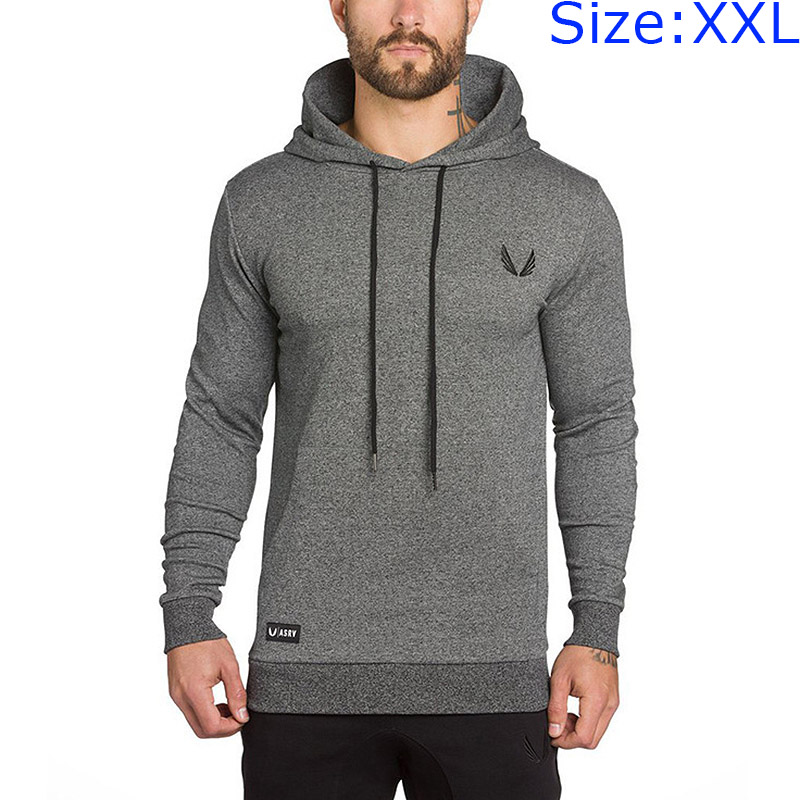 Famous Brand Solid Color Pullover Hooded Men SWEATSHIRTs