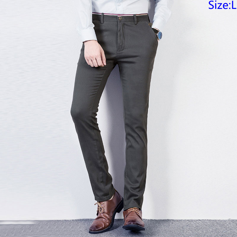 Wholesale Cotton Solid Color HOLIDAY Slim Fit Thin Strtch New Fashion Formal Mens Dress Pants