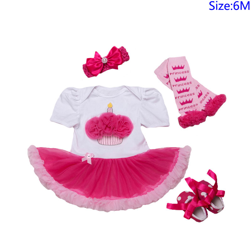 4Pcs Set Bowknot Headband Printed Legging Dots SHOES Lovely Lace Fashion Jumpsuit Design Baby Girl J