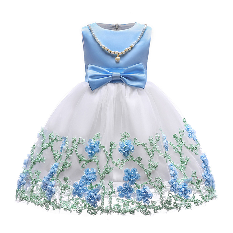 Hot Sale WEDDING Fashion Artistic Imitation Pearl Decoration Bowknot Embroidery Sleeveless Cotton Gi