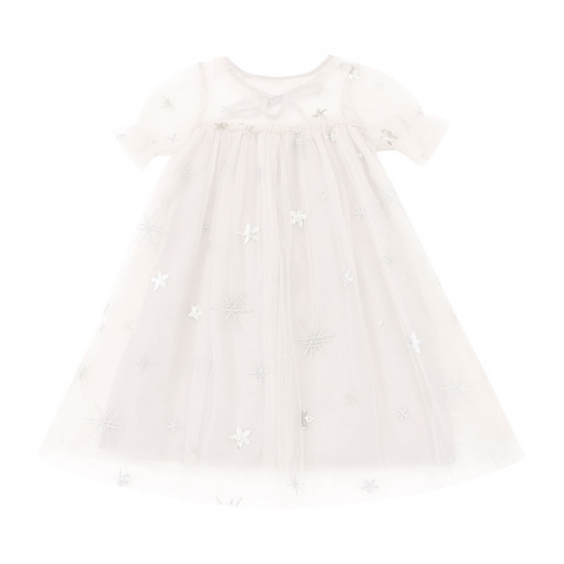 Kids New Arrival Pretty Cute Embroidered Sequin Gauze Princess DRESS