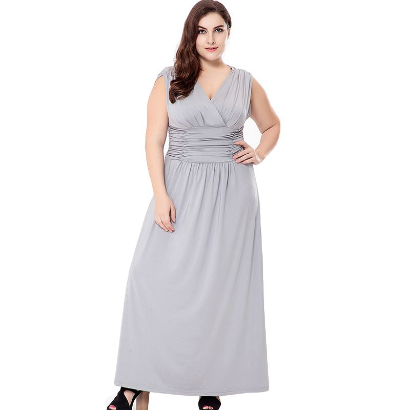 Women Daily CLOTHING Solid Color Summer Cool Material Sleeveless Plus Size Casual Party Dress