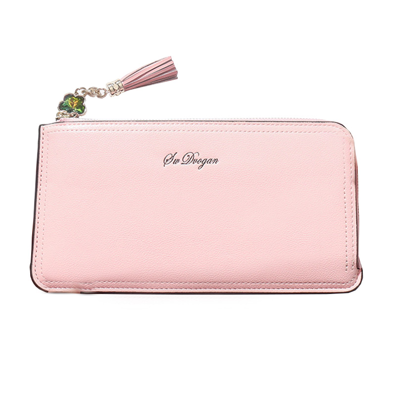 Office-Lady Charming Leather Long Wallet CLUTCH Purse With Zipper