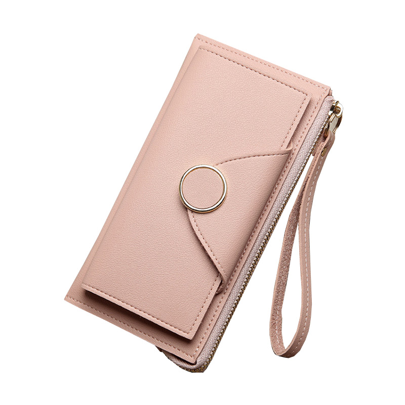 Office-Lady Practical Leather Credit Card CLUTCH Holder Long Wallet