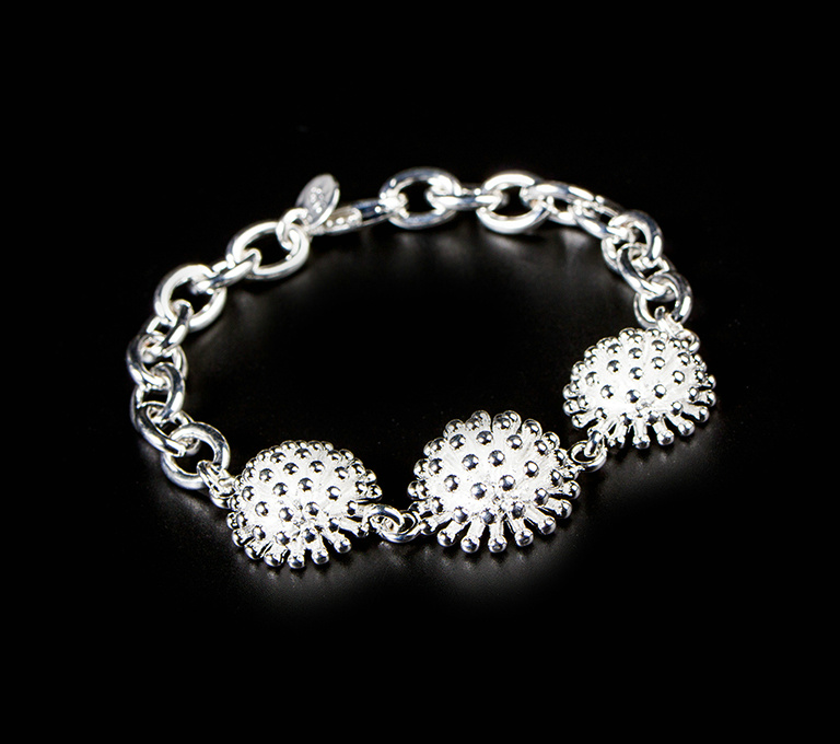 Classic Fashion Women Silver Plated FIREWORKS Chain Bracelet