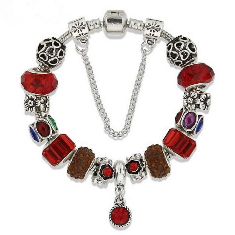 Women Hot Selling Classic Glass Beads Alloy Chain BRACELET