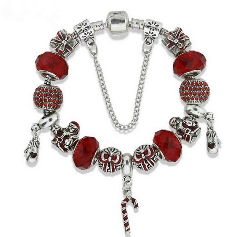 Hot Selling Alloy Christmas Gifts Decoration CANDY Charm Bracelet