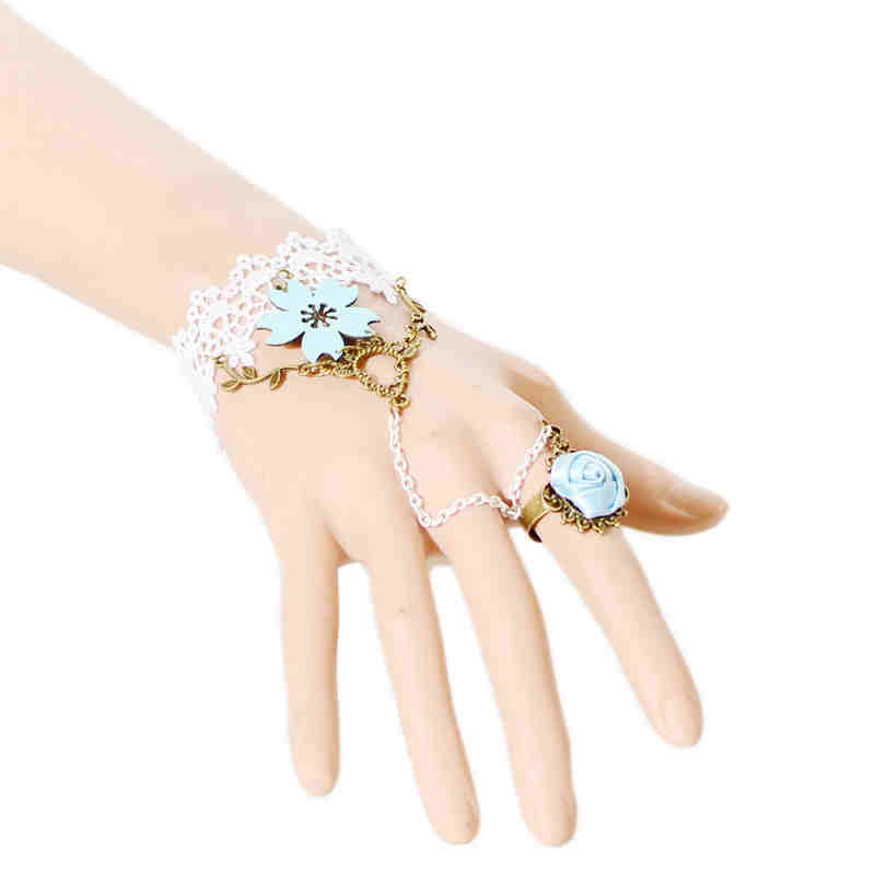Pure Bride Wedding JEWELRY Luxury Lace Flower Bracelet
