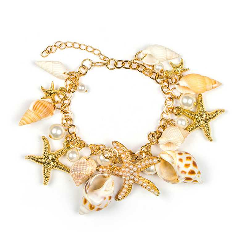 Fashion Alloy Shell&Pearl Charm BRACELET