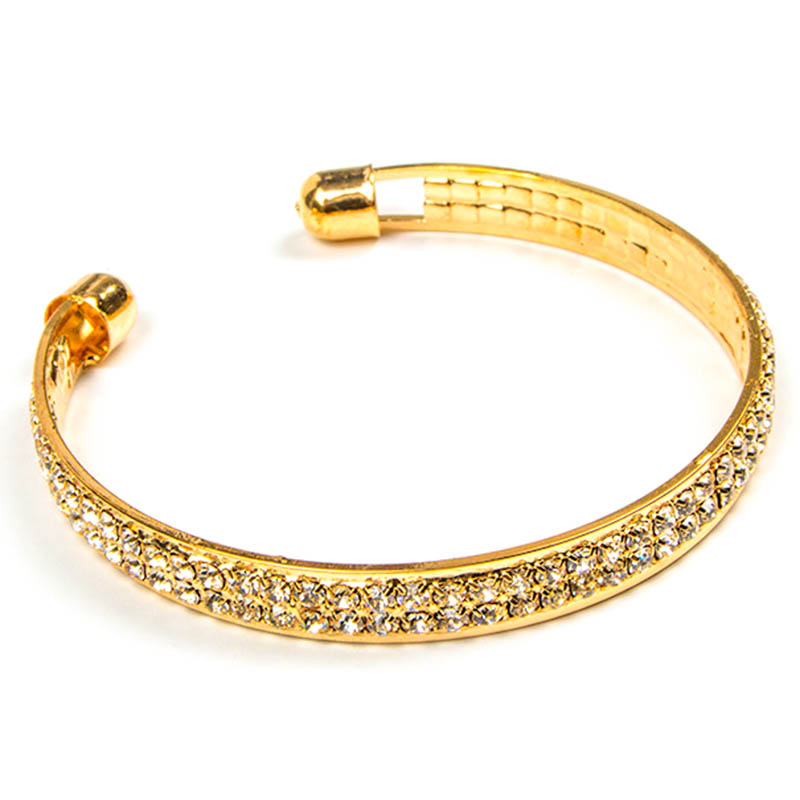 Simple Fashion 3 Roll Full Crystal Adjustable BANGLE