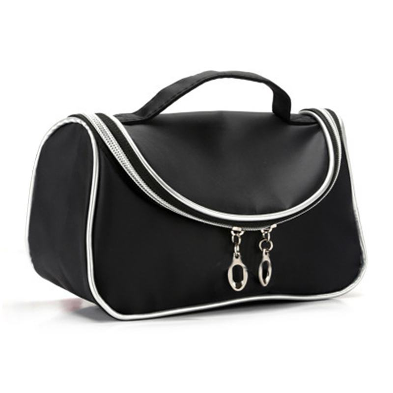 Quality Fashion Wear Resistant Large Capacity Double Zippers Handle COSMETIC Bags For Outdoor Travel