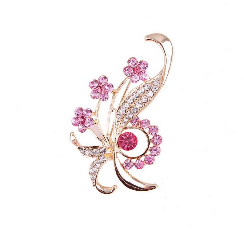 Luxury Wedding JEWELRY Colorful Zircon Flower Brooch