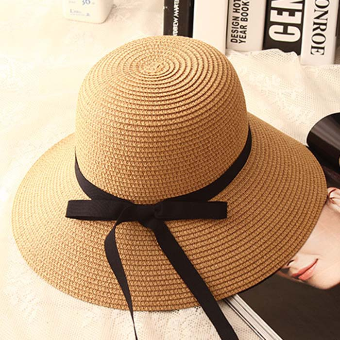 Sweet Girl Hot-Selling Classic Style Ribbon Bow Foldable HAT