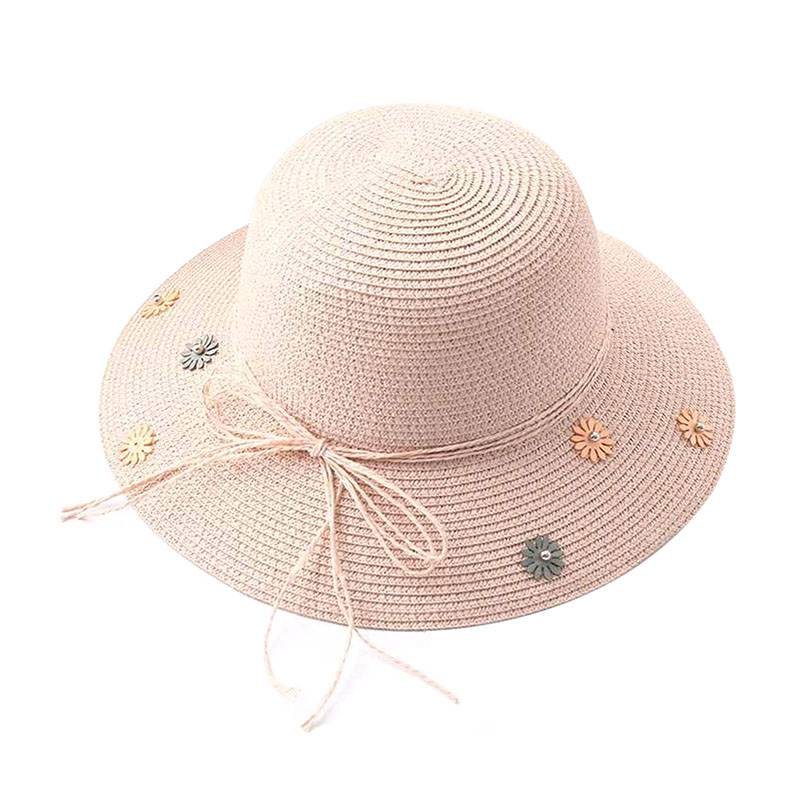 Summer Child Woven Straw Bow-Knot Wide Large HOLIDAY Sun Hat