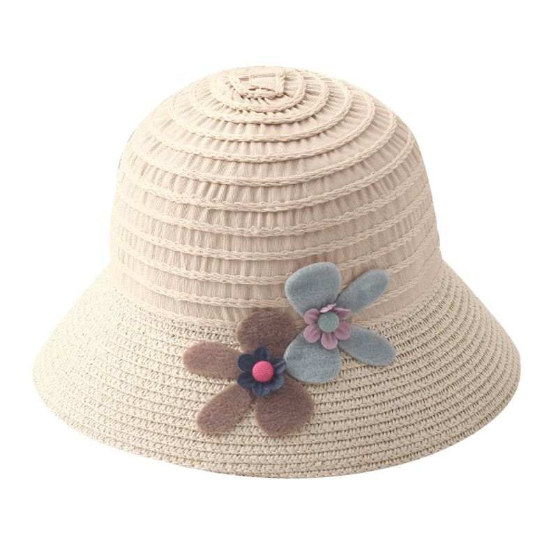 Summer Child Woven Wide Flower Large Sunscreen HOLIDAY Sun Hat