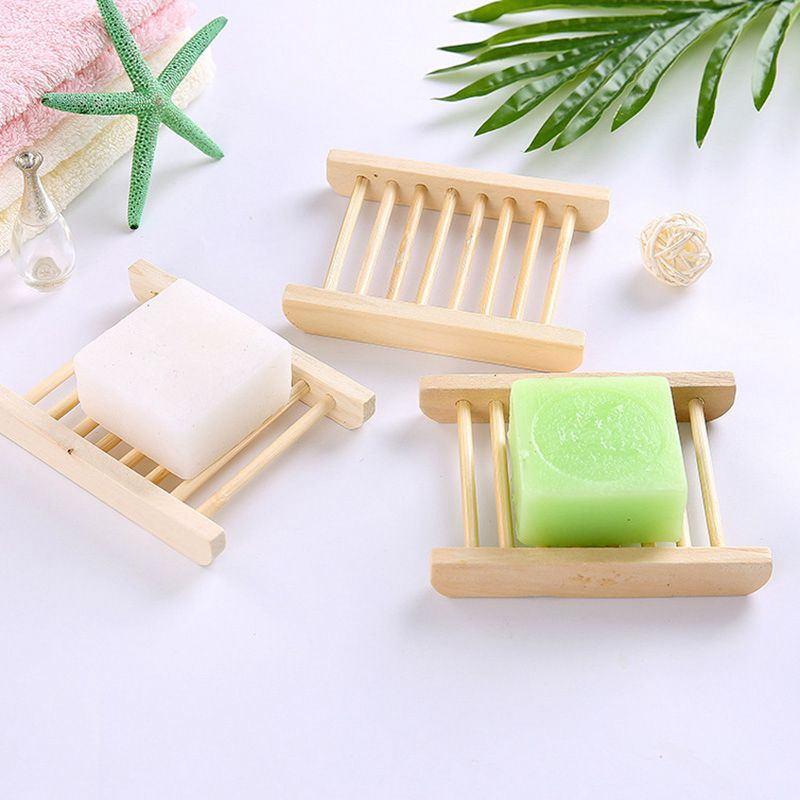 Home Creative Natural Wooden Simple Style Bathroom Kitchen SOAP Holder
