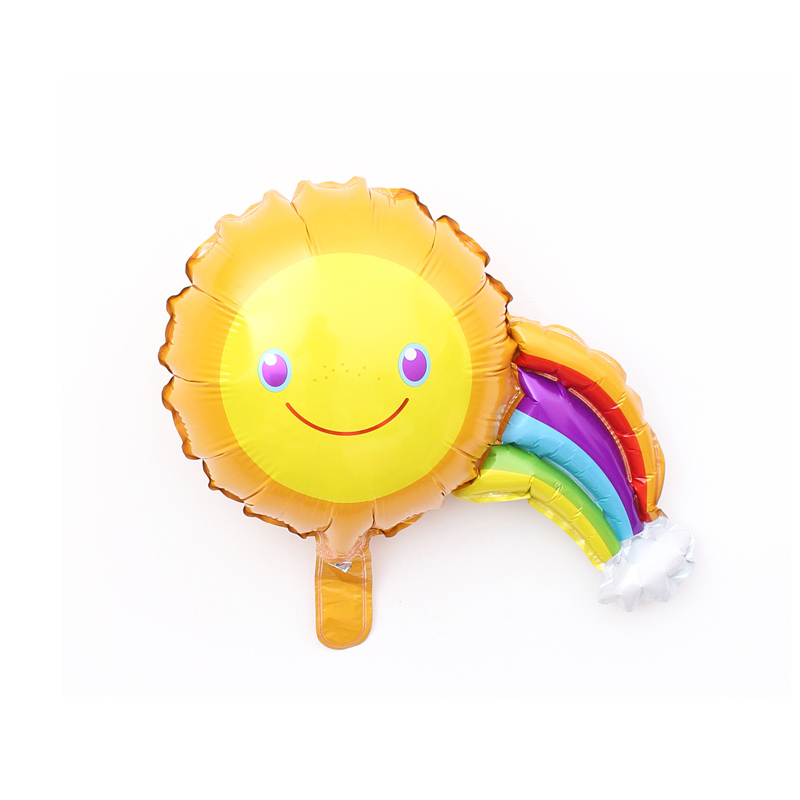 Party DIY Supply Cartoon Cute Rainbow Sun Shape Aluminum Foil BALLOON