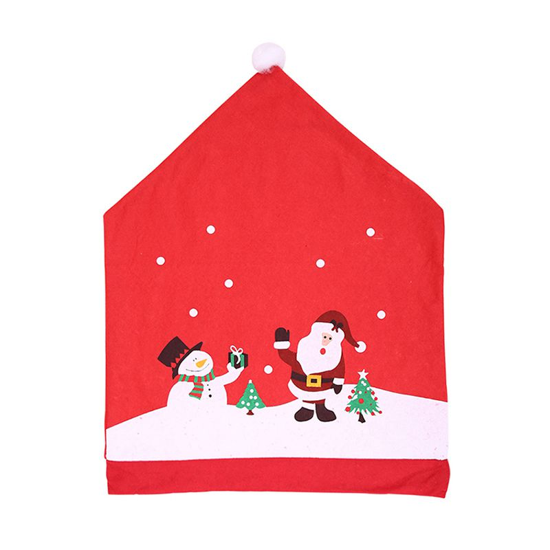 Christmas Snowman Santa Claus Printed Party Home Supply CHAIR Cover