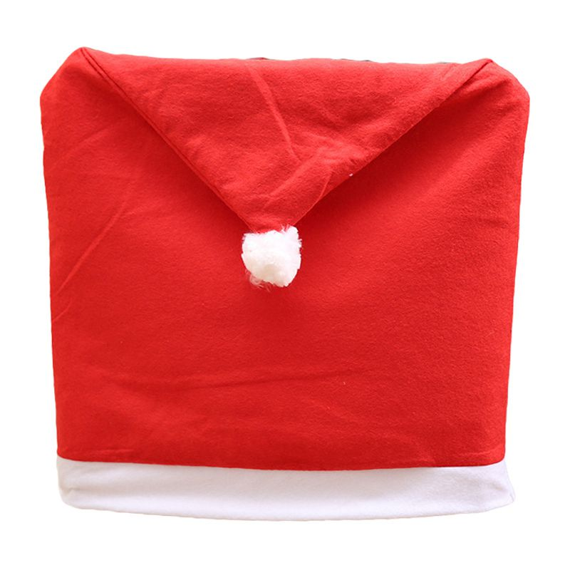Christmas Red Hat Pattern Party Home Supply CHAIR Cover