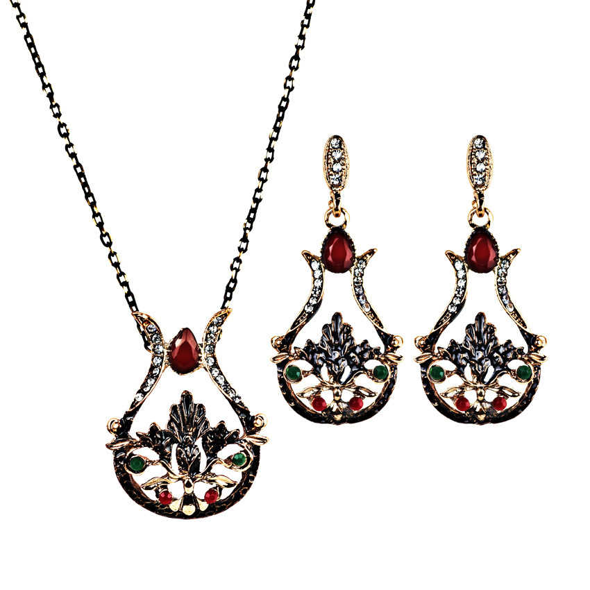 Hot Sell Vintage Style VASE Lotus Shape Design Fashion Jewelry Sets