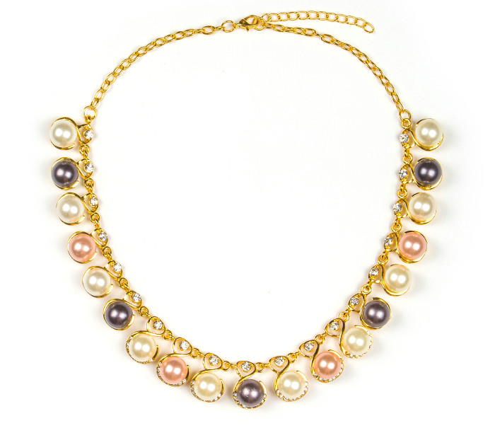 WEDDING JEWELRY Colorful Shiny Pearl Necklace