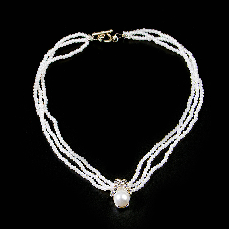 Fashion Lady Multilayer Immitation PEARL JEWELRY New Bride Elegant Necklace