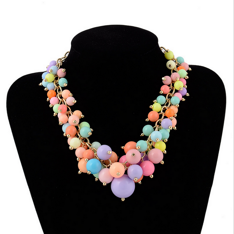 Cute Girl CANDY Grape Of Beads Necklaces