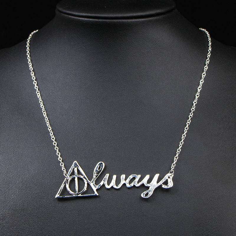 Simple Women Silver Plated English Words Chain NECKLACE