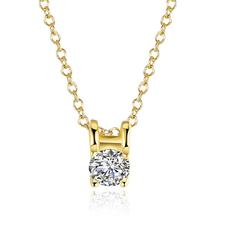 New Design High Quality CHAIR Shape Shine Bright Cubic Zirconia Gold Plated Rose Pendant Necklace
