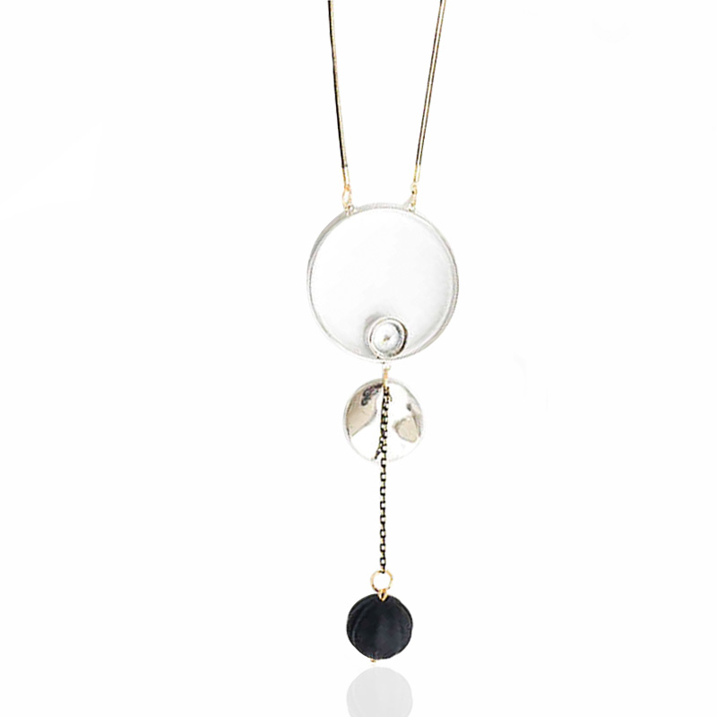 Fashion HANDMADE JEWELRY Ball Pendant Resin Long Rope Sweater Necklace