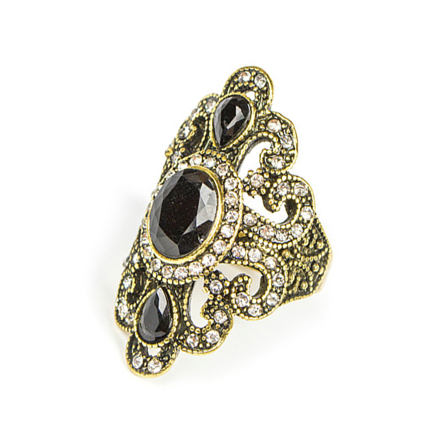 Wholesale Vintage Bohemian Ethnic FLOWERS Gem Stone Ring8#