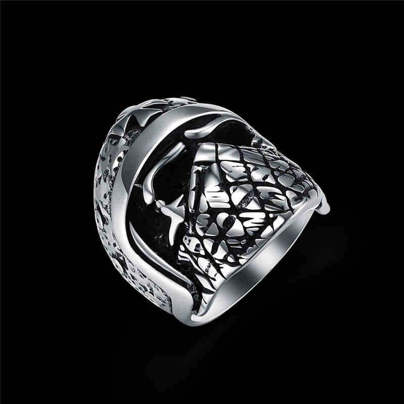 Men Vintage Style Knight HELMET Shape Stainless Steel Ring