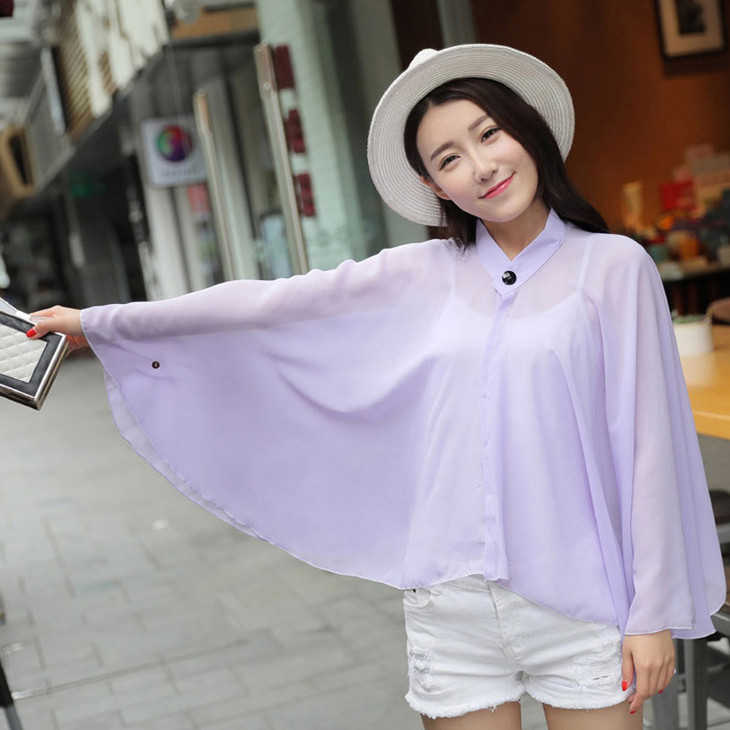 Elegant Women Solid Color Summer Beach Style SUNSCREEN Sweet Girl Scarf