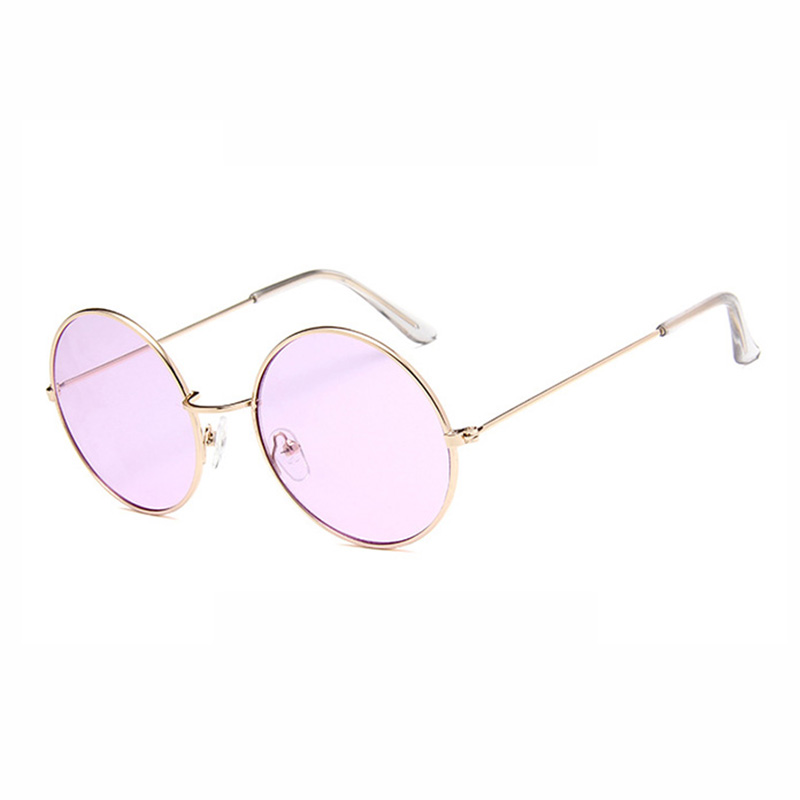 Fashion Round Metal Ocean Frame LADIES Decorative SUNGLASSES