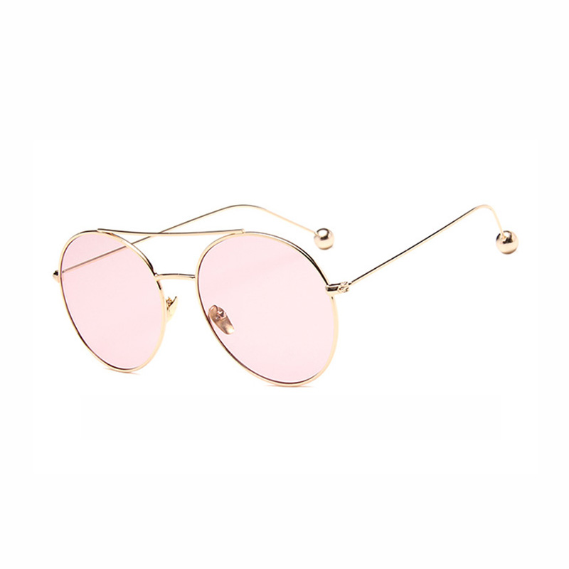 Retro Steel Ball Ocean Big Frame METAL SUNGLASSES