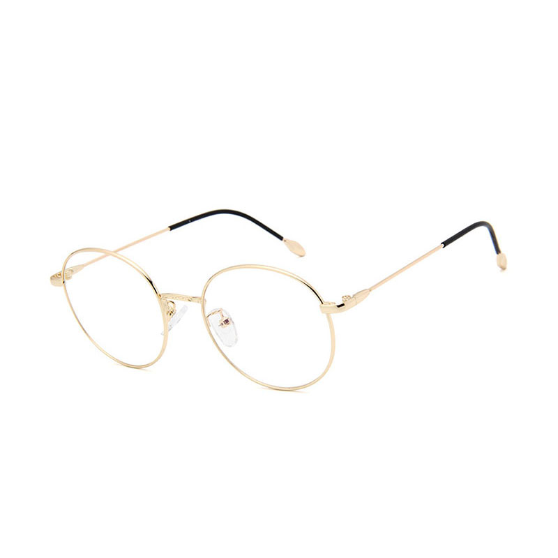 Fashion Round METAL Frame Flat Mirror Unisex Myopic Glasses Eyewear Frame