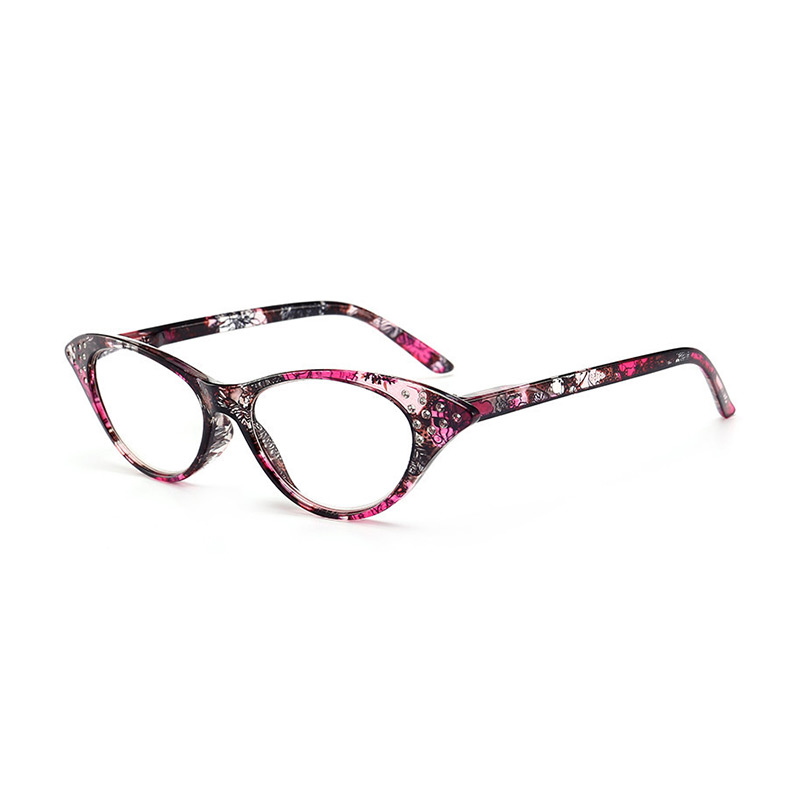 Top Grade Older People Use Resin Cat Eye Frame Rhinestone Presbyopic READING GLASSES