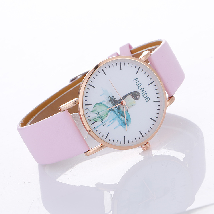 Classic Unisex Style Good Quality Mermaid Print Leisure WATCH