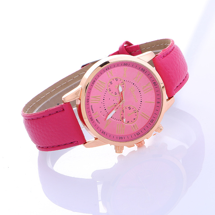 Classic Style Unisex Simple Design PU Leisure WATCH