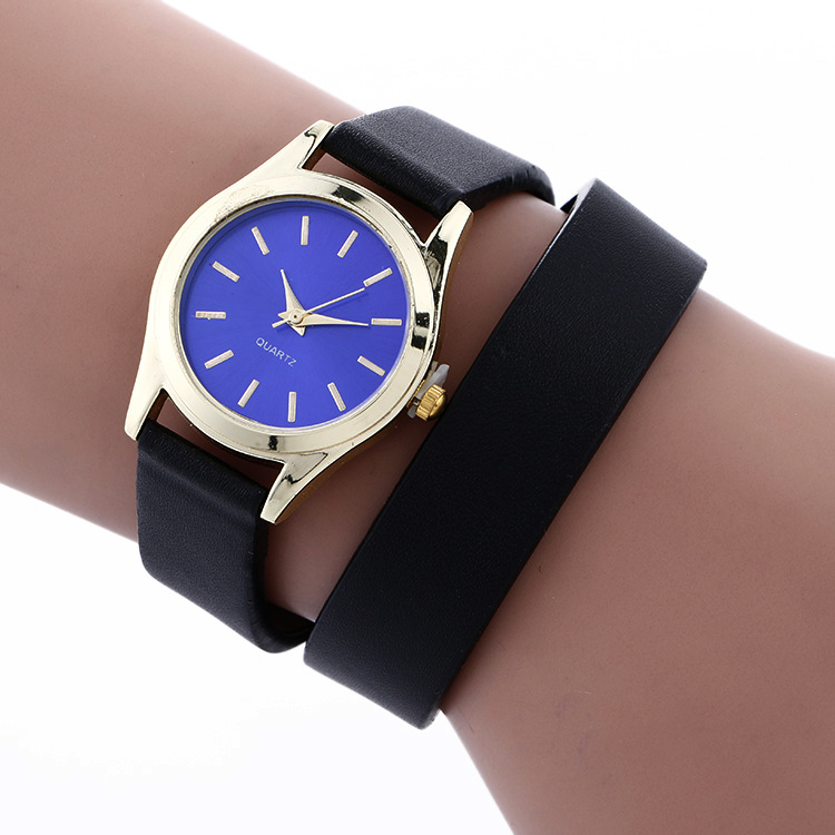 Vintage Style Women Trendy Wraped PU Band WATCH