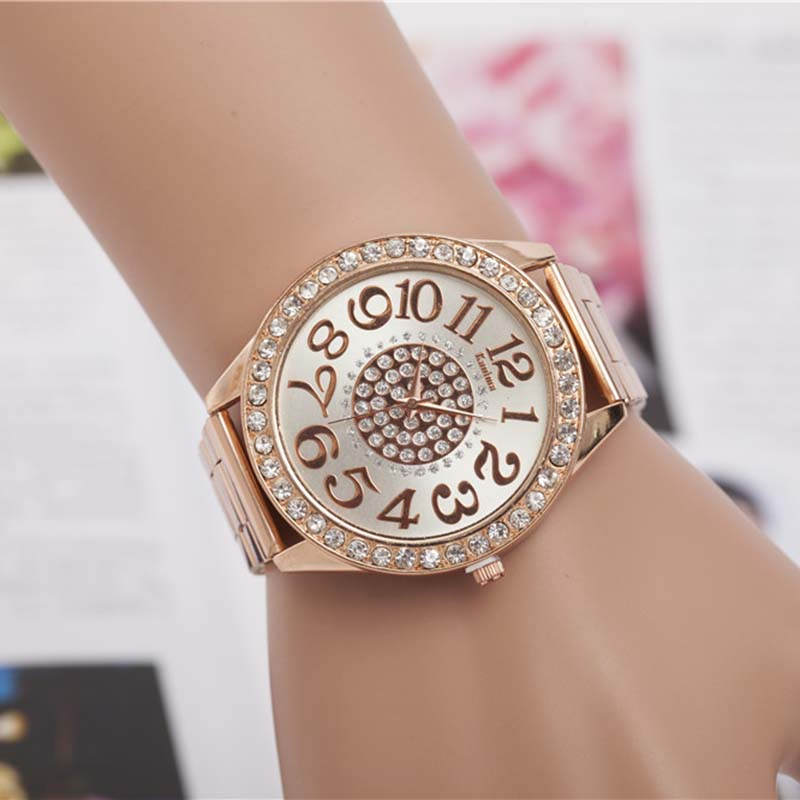 WOMEN Unisex Style Luxury Rhinestone Metal WATCH