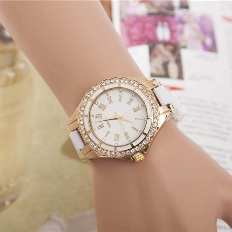 WOMEN Hot-Selling Style Unique Silicone Band WATCH